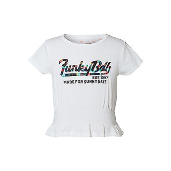Funky Buddha Girls' T-Shirt With Embroidered Artwork