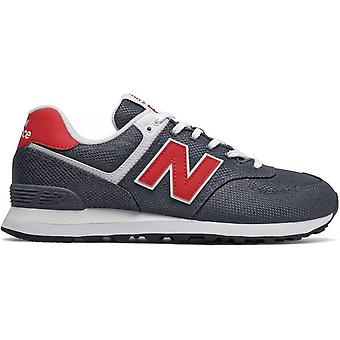 New balance 574 grey red sneakers mens grey, red