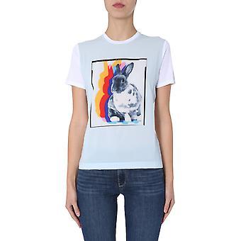 Ps By Paul Smith W2rg799ap157401 Women's White Modal T-shirt