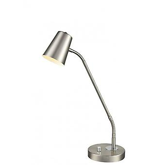 Satin Nickel Table Lamp 1 Bulb
