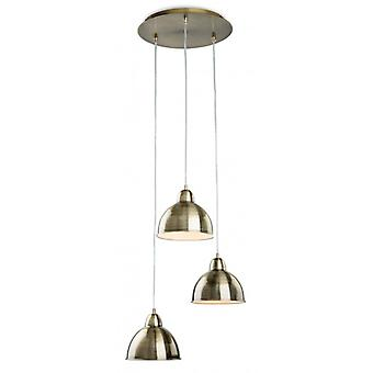 Hanging Lamp 3 Bulbs Baron, Antique Brass