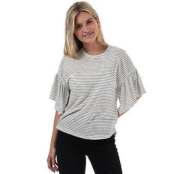 Frauen's Vero Moda Rebecca Stripe Jersey Top in weiß