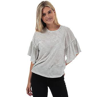Vrouwen's Vero Moda Rebecca Stripe Jersey Top in Wit