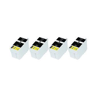 RudyTwos 4 x замена единицы чернил Epson 27XL(AlarmClock) черный совместимый с рабочей силы WF-3620, WF-3620DWF, WF-3640DTWF, WF-7110DTW, WF-7210DTW, WF-7610DWF, WF-7620DTWF, WF-7620TWF, WF-7710DWF