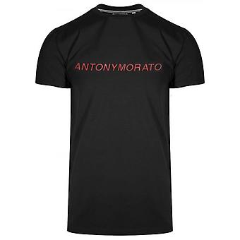 Antony Morato Sport Raised Logo Black T-Shirt