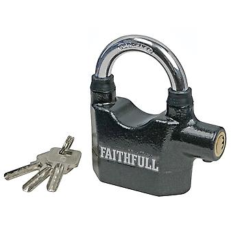 Faithfull Padlock with Security Alarm 70mm FAIPLALARM
