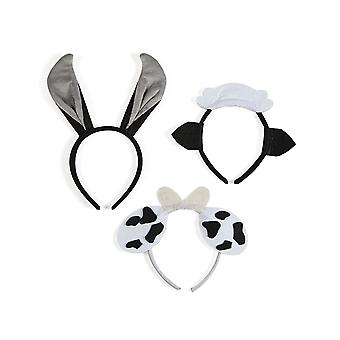 12 Animal Dress Up Headbands for Kids Nativity Plays