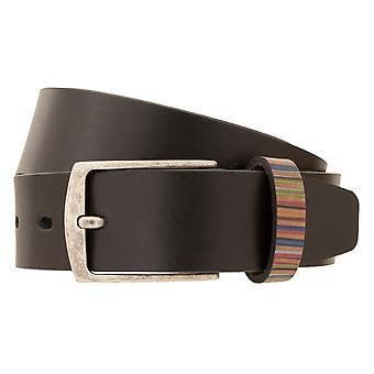LLOYD Hombres's Cinturón hombre cinturón de cuero completo cuero negro 27