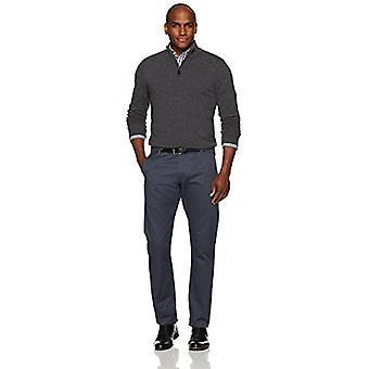 BUTTONED DOWN Men's Cashmere Quarter-Zip Sweater, Dark Grey, XXX-Large