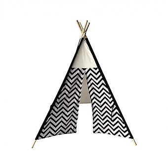 Rebecca muebles tienda de campaña india por juego negro blanco algodón madera 145x120x120