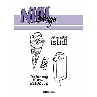 NHH Design Ice Creams Clear Stamps