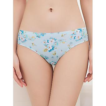 Květinové tištěné bezešvé ultratenké kalhotky s nízkým pasem