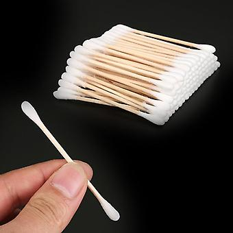 Double Head Disposable Makeup Cotton Swab - Soft Buds For Nose, Ears Cleaning