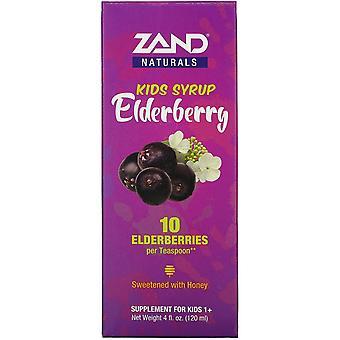 Zand, Kids Elderberry Syrup, 4 fl oz (120 ml)