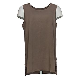 AnyBody Women's Top Cozy Knit Ribbed Mixed Tank Beige A367697