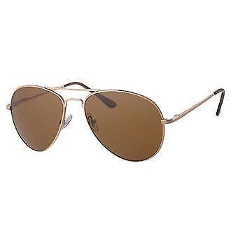 Sunglasses Men's Kat. 3 gold with brown lens