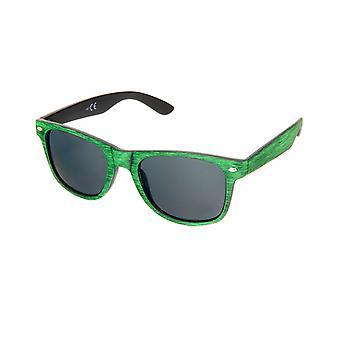Zonnebril Unisex zwart-groen (H62)