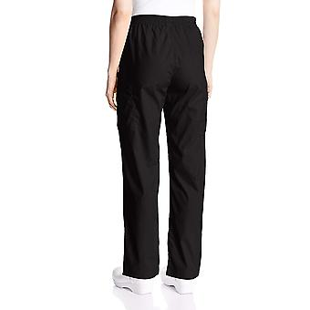 Dickies Women's Signature Elastic Waist Scrubs Pant, Black, Medium