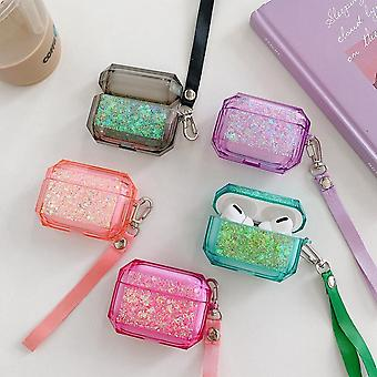 Airpods Pro case with glitter and extra strap