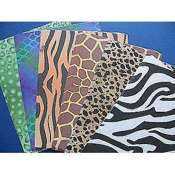 40 Animal Print A4 Paper Sheets | Papercraft Paper Packs