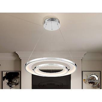 Integroitu LED katto riipus pyöreä kromi