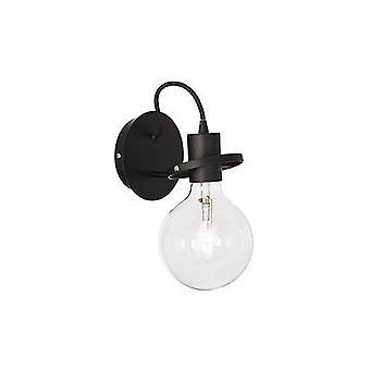 Ideal Lux Radio - 1 luz de pared de luz negro, E27