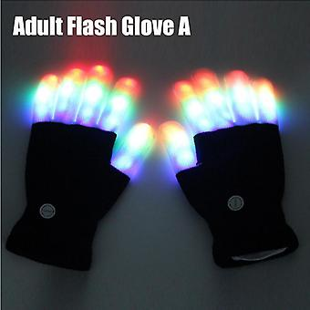 Led Light-up Flashing Magic Glove Glow In The Dark - Light Up Finger Tip