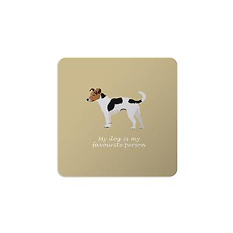 Bailey and Friends Dog Coaster Jack Russell Mustard