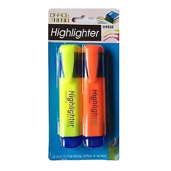 Markeringspennor 2-Pack (Gul och Orange)