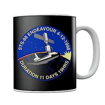 NASA STS 88 Endeavour Badge Mug