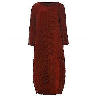 Grizas Zijde en linnen gekreukelde jurk