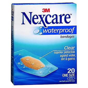 Nexcare Waterproof Clear Bandages One Size, 20 Chacun