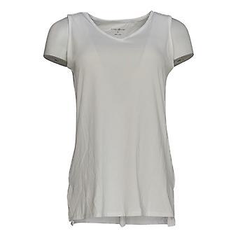 Elizabeth & Clarke Women's Top Sleeveless V-Neck w/StainTech White A353174