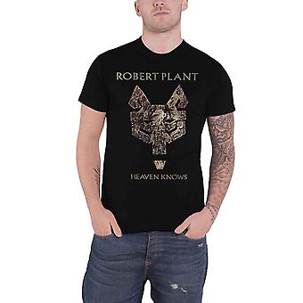 Robert Plant T Shirt Heaven Knows new Official Mens Black