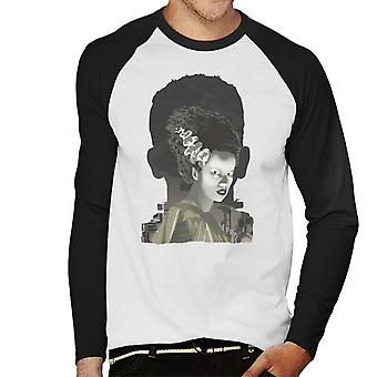 The Bride Of Frankenstein Head Men's Baseball Long Sleeved T-Shirt
