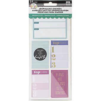 Happy Planner medium flip klistermärken 5/ark-produktivitet