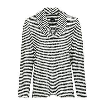 TIGI Cowl Neck Striped Top