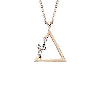 Trekant Baguette Diamond halskæde