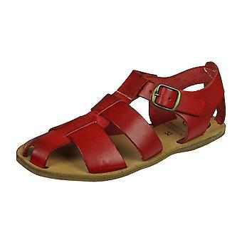 Angela Brown Archie Flickor Läder Sandaler - Röd