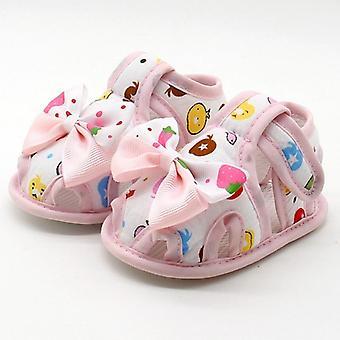 Vauvan pehmeä mukava pohja liukumaton muoti rusetti kengät, pinnasänky kenkä
