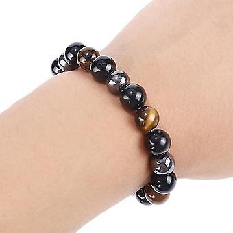 Hematite Stone Bead Couple Bracelet Health Care Magnet Men-women Loss Jewelry