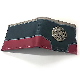 PU الجلود كوين محفظة الكرتون محفظة أنيمي - كابتن أمريكا #1052