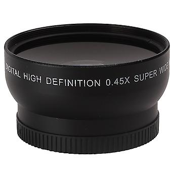 Black Aluminium Alloy 58mm Telephoto Wide Angle Macro High Definition Lens
