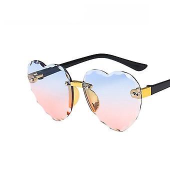 Nuovo cuore rimless bambini moda cuore forma occhiali protezione solare
