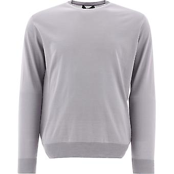 Prada Umm984c5wf0024 Men's Grey Wool Sweater