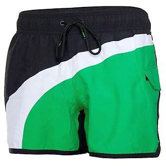 Puma Fun Înot Training Gym Fitness Pantaloni scurți Mens Negru Verde 512389 05 A13B