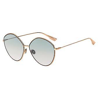 ديور المجتمع 4 DDB / JP الذهب النحاس / نظارات شمسية وردية خضراء