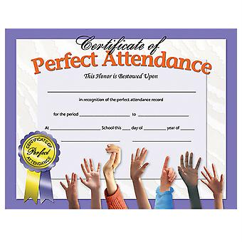 """Certificate Of Perfect Attendance, 8.5"""" X 11"""", Pack Of 30"""