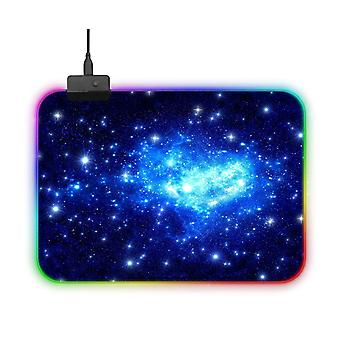 Gaming RGB USB LED Mouse Pad Starry Sky Blue (S)
