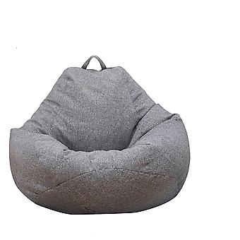 Lazy Sofas Cover Chairs Without Filler Linen Cloth, Lounger Seat, Bean Bag Pouf